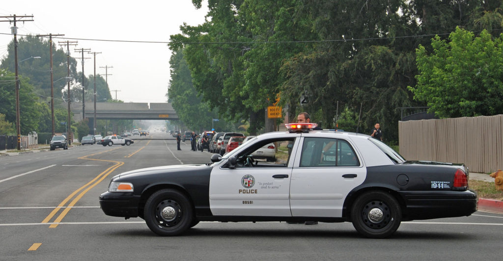 Photo by Chris Yarzab - An LAPD patrol car in the North Hills (2011) / CC BY 2.0 - https://www.flickr.com/photos/chrisyarzab/5829444535