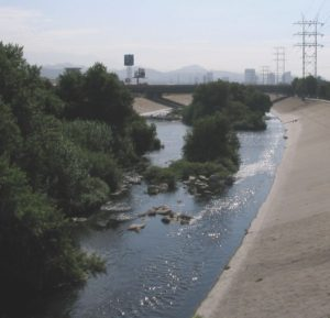 the Glendale Narrows Los Angeles River