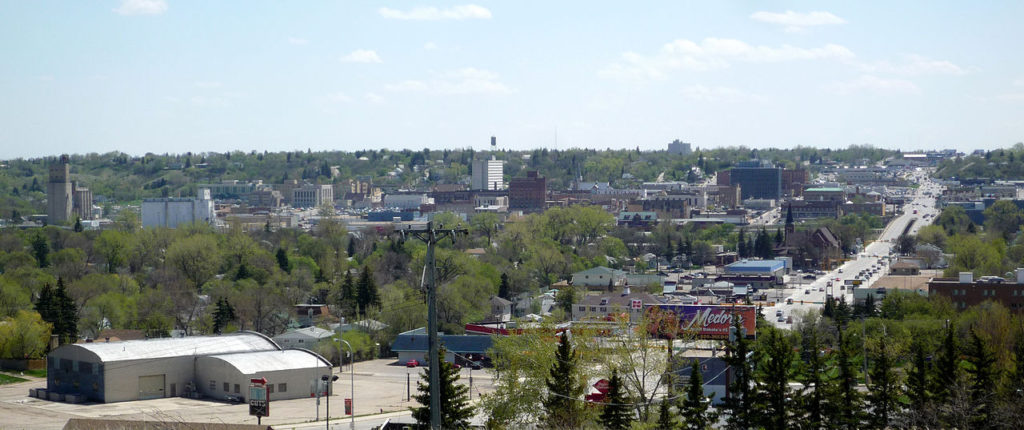 Photo by Bobak Ha'Eri - View of downtown Minot, North Dakota, USA from the hill below the Grand International Inn. (2009) / CC BY 3.0